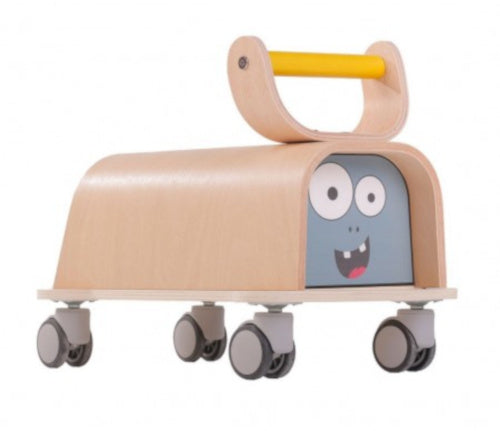a photo of the product: Mamatoyz loopwagen Cute Monster junior 40 x 32 cm hout naturel