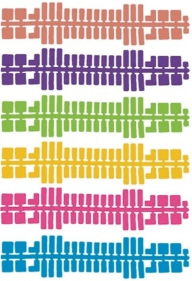 a photo of the product: Ministeck uitbreidingsset kleurenstrips 9-delig 31666