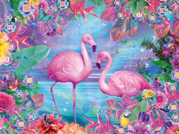 a photo of the product: Mona Lisa diamond painting flamingo 40 x 30 cm 266 gr.