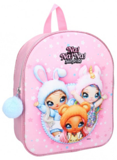 a photo of the product: Na!Na!Na! Surprise rugzak 3D meisjes 9 liter polyester roze