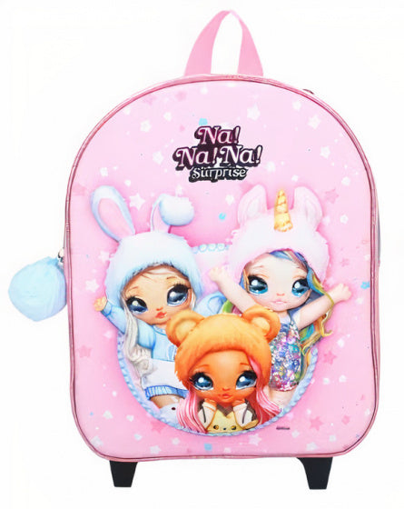 a photo of the product: Na!Na!Na! Surprise trolley rugzak meisjes 9 liter polyester roze