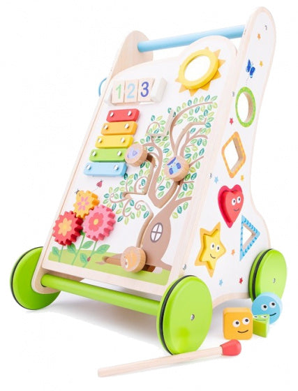 a photo of the product: New Classic Toys activiteiten loopwagen 32 x 32 x 49 cm hout