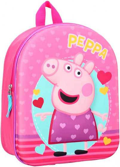 a photo of the product: Nickelodeon rugzak Peppa Pig 3D 9 liter polyester roze