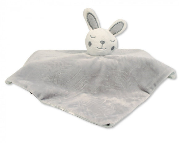 a photo of the product: Nursery Time knuffeldoekje konijn 30 cm polyester grijs
