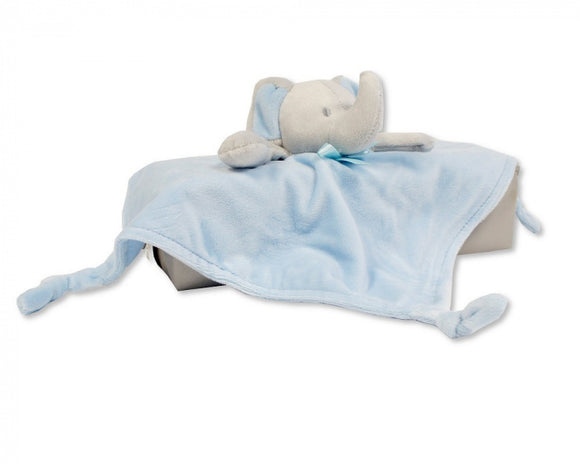 a photo of the product: Nursery Time knuffeldoekje olifant 30 cm polyester blauw