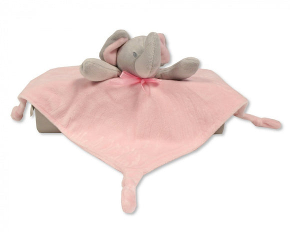 a photo of the product: Nursery Time knuffeldoekje olifant 30 cm polyester roze