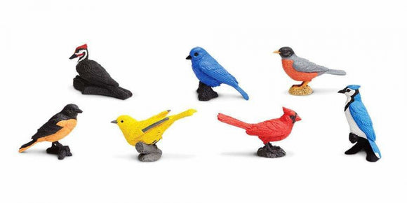a photo of the product: Safari speelset Backyard birds Toob junior 7-delig