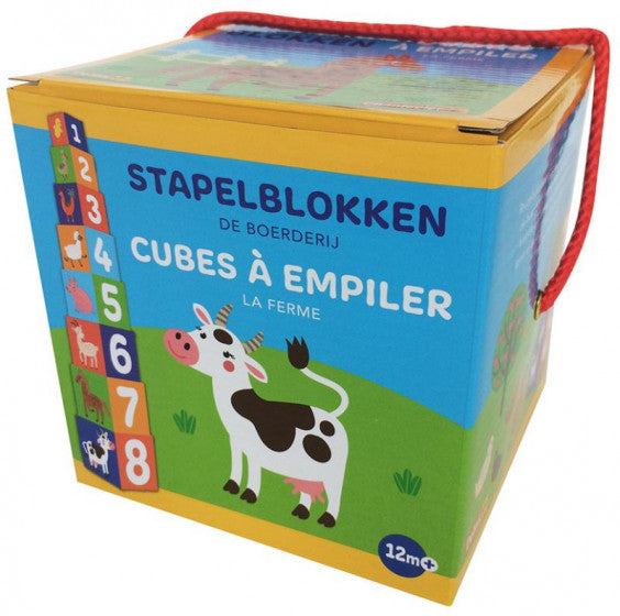 a second photo of the product: Deltas Stapelblokken De boerderij 8-delig