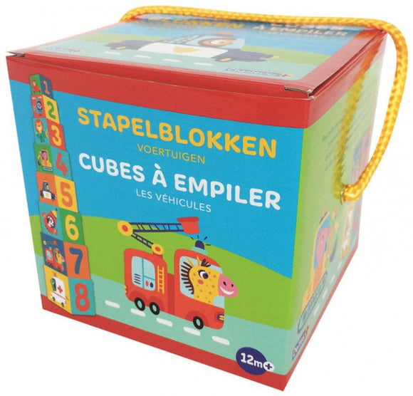 a second photo of the product: Deltas Stapelblokken Voertuigen 8-delig