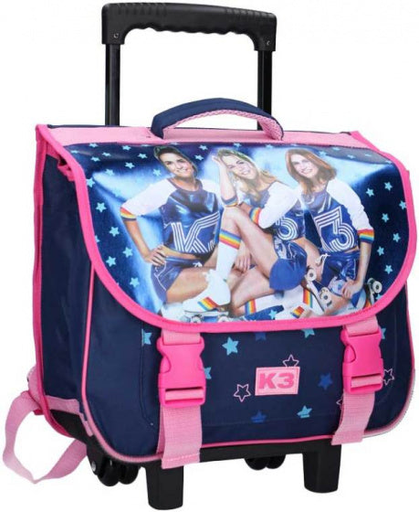 a photo of the product: Studio 100 schooltas trolley K3 17 liter polyester blauw/roze