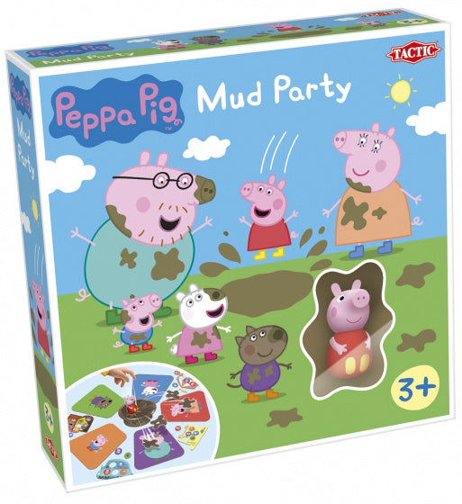a photo of the product: Tactic gelukspel Peppa Pig Mud Party junior 27,5 x 6,5 cm karton