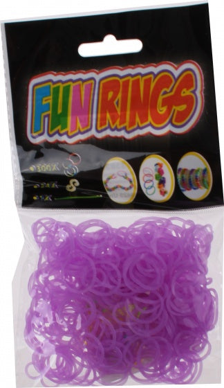 a photo of the product: TOM Fun Rings armband vlechten lila 325-delig