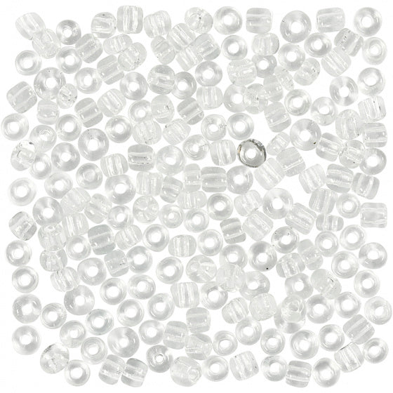 a photo of the product: TOM rocailles junior 4 mm transparant 25 gram