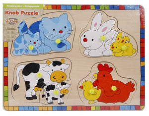 a photo of the product: Toys Amsterdam vormenpuzzel junior 24 x 15 cm hout 9-delig