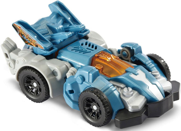 a photo of the product: VTech truck Dino's Fire Tracks de Triceraptops junior 16 cm blauw