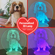 Load image into Gallery viewer, Customized 3D Pet LED Night Lamp