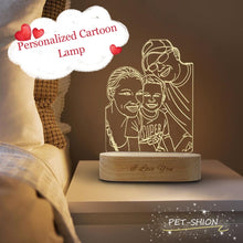 Load image into Gallery viewer, Customized Pet Cartoon LED Lamp