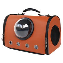 Load image into Gallery viewer, astronaut capsule design pet carrier brown