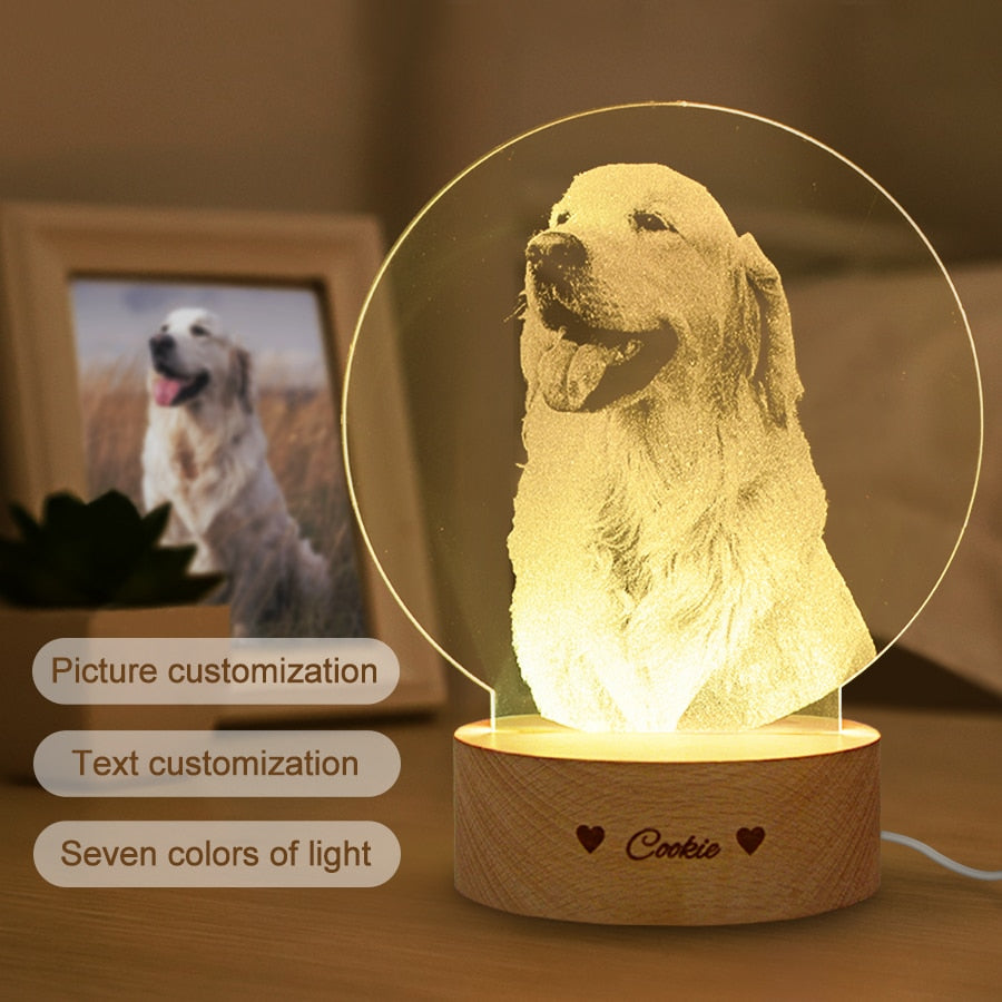 Customized 3D USB Lamp