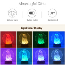 Load image into Gallery viewer, lighting effect of Customized 3D USB Lamp