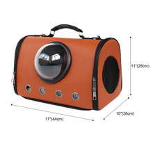 Load image into Gallery viewer, size of astronaut capsule design pet carrier brown