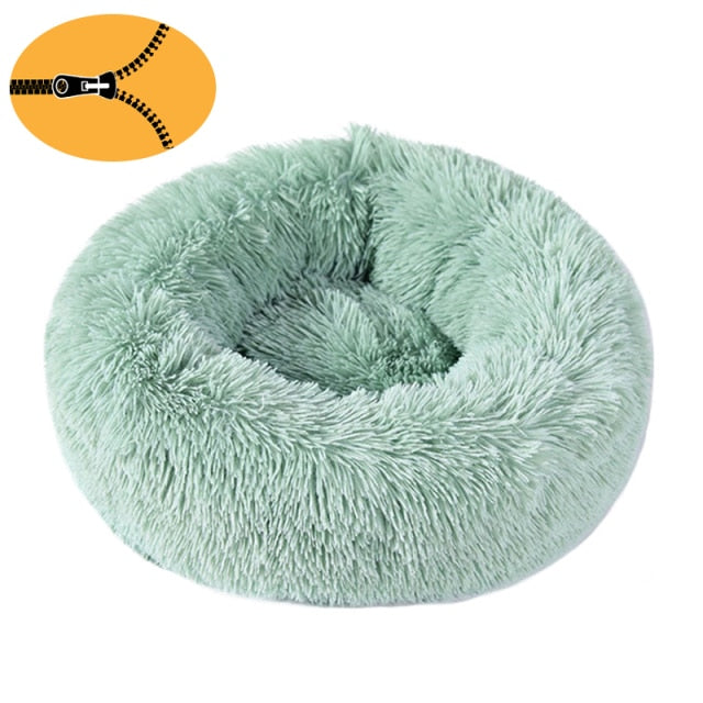 Donut Cuddler Dog Bed / Removable Cover Round Calming Cat Beds Pet House Kennel Pillow Washable Lounger for Small Large Dog Cats
