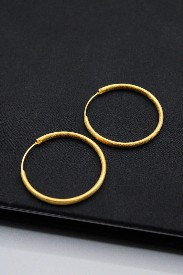 Satin Gold Hoops