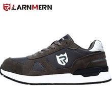 Load image into Gallery viewer, LARNMERN Men's Work Safety Shoes Steel Toe Construction Sneaker Breathable Lightweight Anti-smashing Anti-static Non-slip shoe