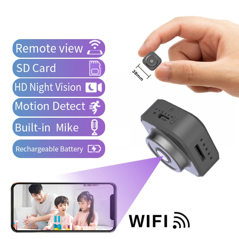 2020 New Design Private Mode Portable HD Real 1080P Mini Wireless Camera Home Security IP Wifi Camera with Rechargeable Battery