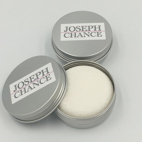 Joseph Chance Handmade Sea Salt and Wild Sage Shampoo bar in a tin