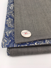 Load image into Gallery viewer, Joseph Chance Herringbone Superfine Tweed with Liberty of London Paisley Reversal