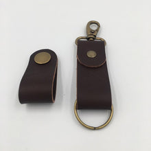 Load image into Gallery viewer, Joseph Chance Hand Made Leather Keyring Brown