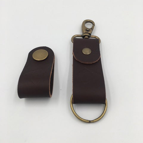 Joseph Chance Hand Made Leather Keyring Brown