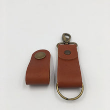 Load image into Gallery viewer, Joseph Chance Hand Made Leather Keyring Tan