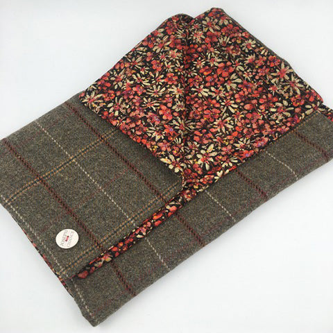 Joseph Chance Superfine Classic Tweed with Liberty of London floral Reversal