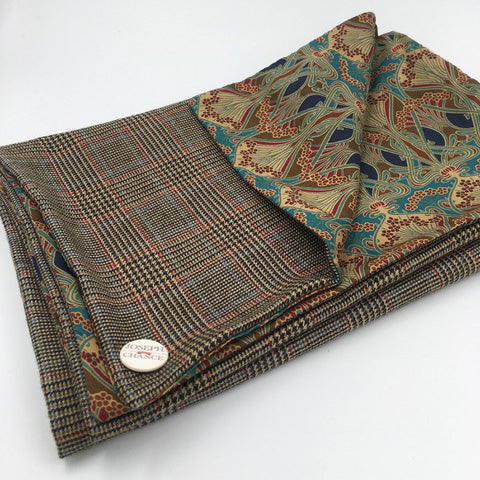 Joseph Chance Superfine Classic Tweed with Liberty of London 'Ianthe' Reversal
