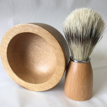 Load image into Gallery viewer, Joseph Chance Handturned Shaving Bowl and Brush Set