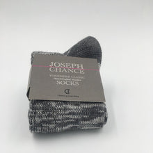 Load image into Gallery viewer, Joseph Chance Yorkshire Wool Socks Grey Marl with Grey Toes and Heel