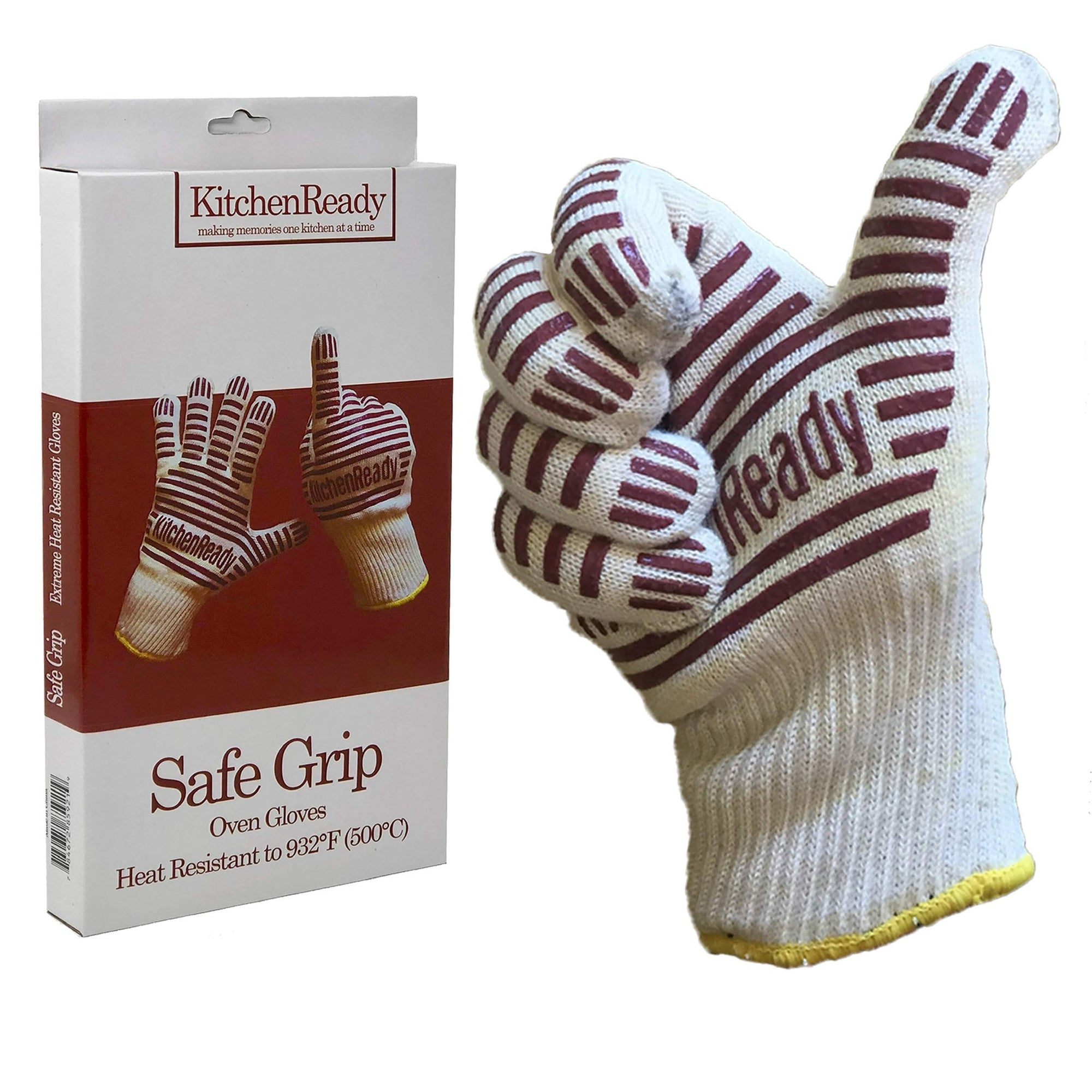 Safe Grips Premium Heat Resistant BBQ Grilling & Oven Gloves