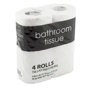 2-Ply Toilet Paper Roll, 4 Count - Munchiezz LLC