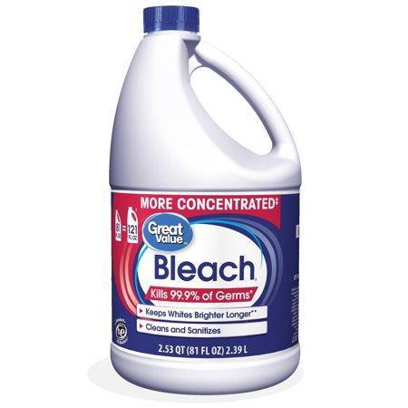 Great Value Concentrated Fabric Protection Bleach, 81 fl oz - Munchiezz LLC
