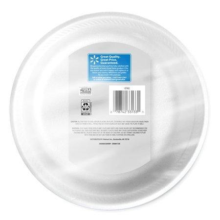 "Great Value Soak-Proof Plates, 8 7/8"", 50 Count - Munchiezz LLC"