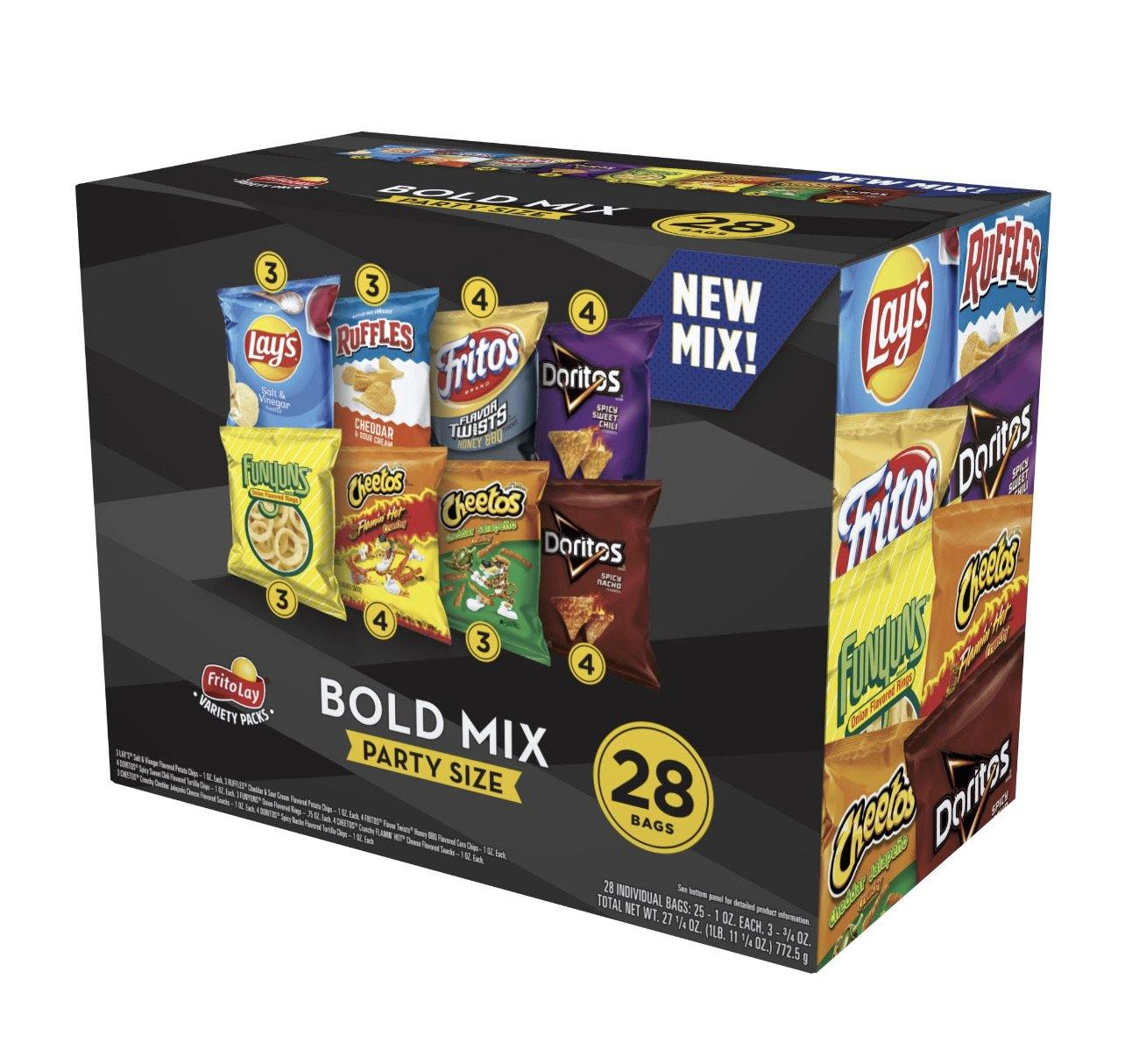 Frito Lay Party Mix Snack Variety Pack, 27.25 Oz., 28 Count - Munchiezz LLC