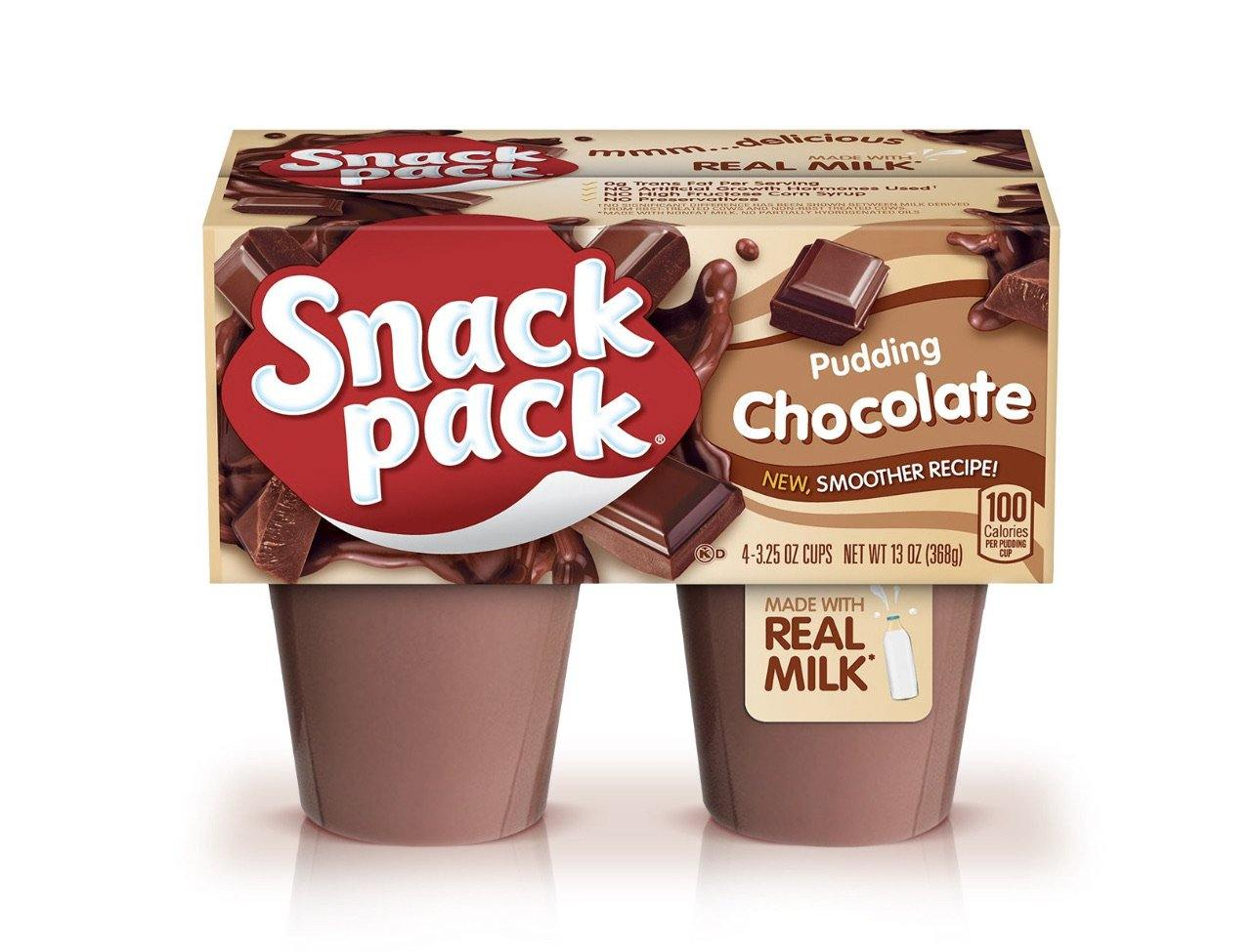 Snack Pack Pudding Cups, Made with Real Milk, 3.25 oz, 4 Pack - Munchiezz LLC