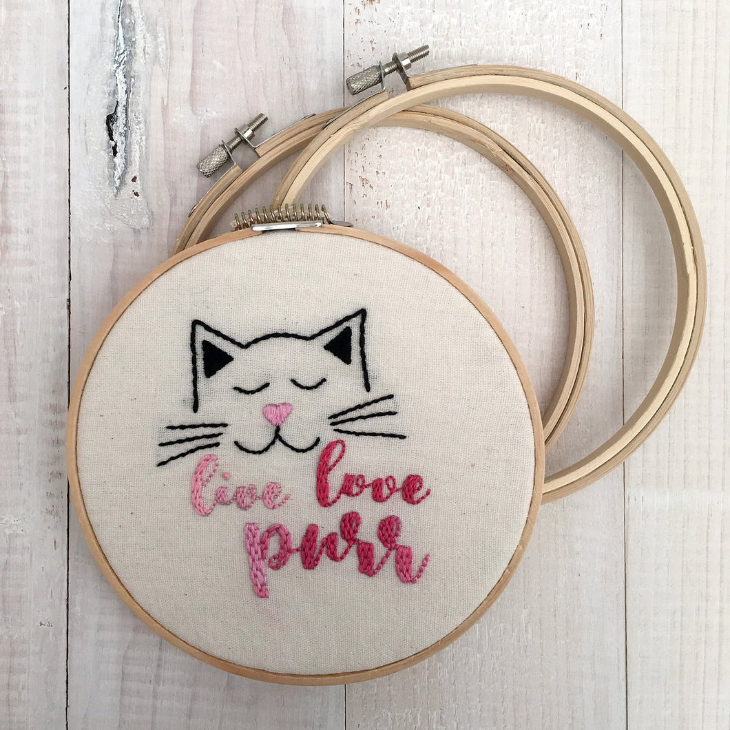 Live, Love, Purr Pattern