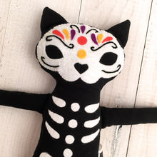 Load image into Gallery viewer, Catrín, the Sugar Skull Cat Doll