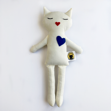 Load image into Gallery viewer, Lovecats (White Fabric)