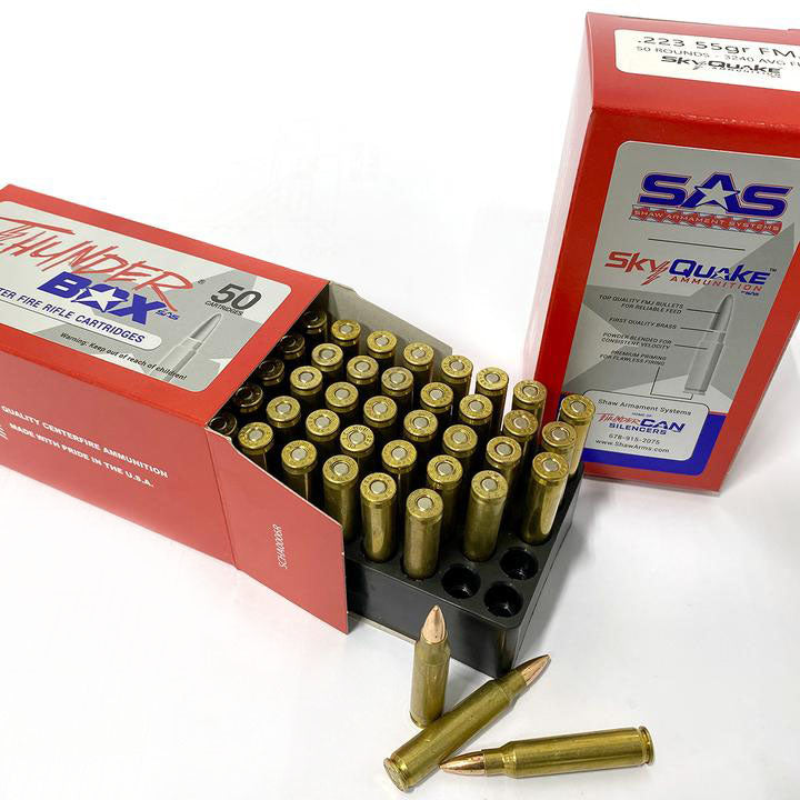 .223 55gr FMJ SkyQuake Thunder Box by SAS (1 Box - 50 Rounds)