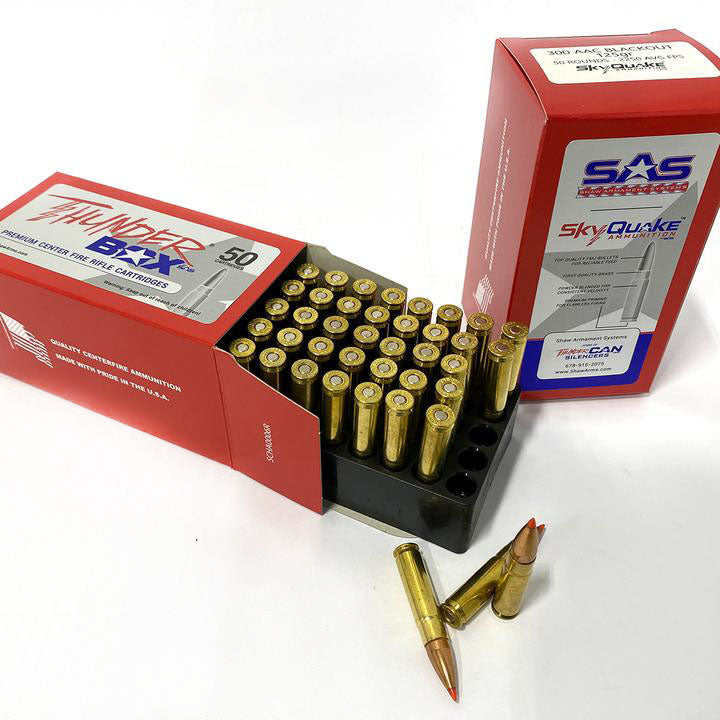 300 AAC BLACKOUT 125gr SkyQuake Thunder Box by SAS (1 Box - 50 Rounds)