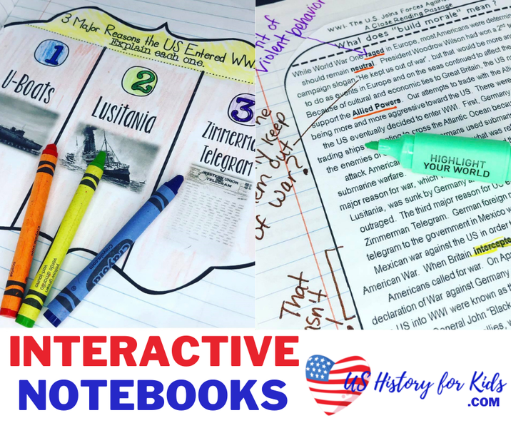 Using Interactive Notebooks for US History